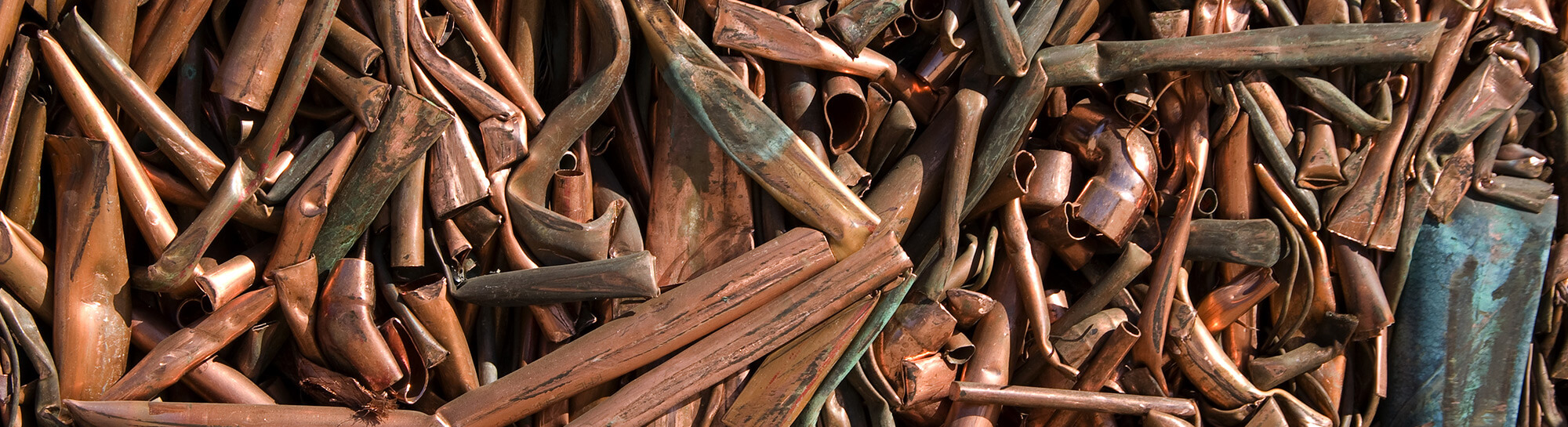 Pile of copper pipe